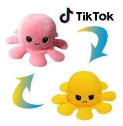 Polvinho reversível feliz e bravo - polvo do humor TikTok