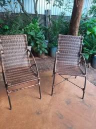 Vendo 2 Cadeiras de varanda grande de junco sintético