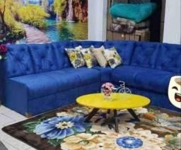 Título do anúncio: sofa canto direto da fabrica - pagamento só na entrega 3 meses de garantia