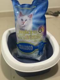 Kit Caixa higiênica para gato + 1 saco de areia sílica