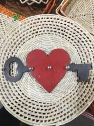 Porta chave coração