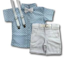Lindo conjunto roupa infantil 5 peças para bebê/criança/menino