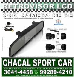 .(kit) 01 câmera de ré + Retrovisor interno com tela Lcd