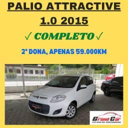 Palio Attractive 1.0 2015/ Completo/ Baixa Km/ Impecável
