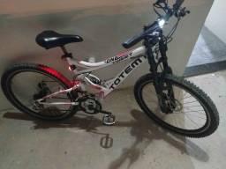 Bicicleta Totem pra Quem quer Conforto - Freios a Disco Suspensão Quadro na Frente e Sela