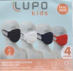 # LANÇAMENTO = Kit Máscaras Lupo Kids c/04 cores