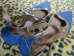 Calçado feminino Jeans N°35