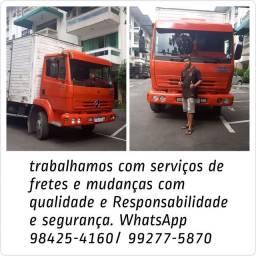 Fretes baú caminhão com RESPONSABILIDADE