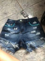 Vendo short jeans bordado