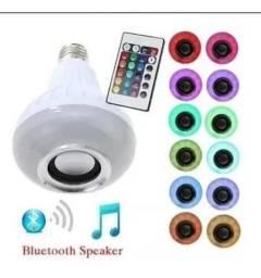 Lâmpada LED BLUETOOTH musical varias cores com controle (house eletronics)
