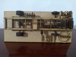 Maquete chassi Ônibus Volvo B 270 F, - na caixa, única unidade
