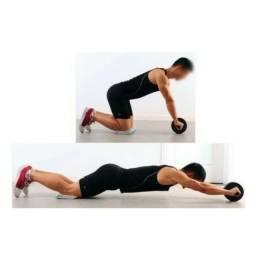 Roda de Exercícios Desmontável Abdominal Lombar Musculação Crossfit
