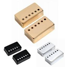 Capa Captador Guitarra Humbucker Em Metal - Todos os Modelos de Les Paul - Cores Diversas