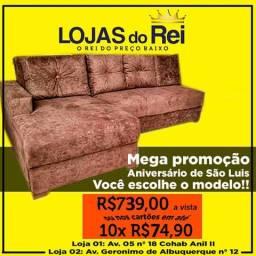 Sofa top de.linha direto de fabrica apenas 739.00 a vista