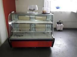 Geladeira balcão vidro