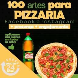 Artes para Pizzaria, pacote 100 artes para redes sociais. Vários segmentos, confira o seu