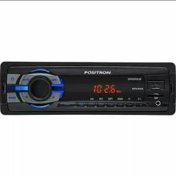 MP3 Player com Rádio FM USB MicroSD SP2210UB Pósitron - 1 DIN