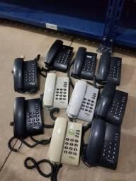 Telefones teclados cabos perfuradores kit festa junina