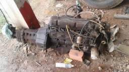 Moto de opala 6 cilindros completo com caixa de mais estalacao elétrica