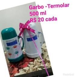 Garrafas Termolar - Magic Pump e Garbo - Novas