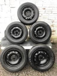 Rodas c/ pneus 5 x 100 Original FOX R$300
