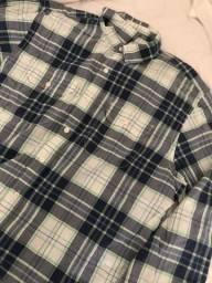 Baixamos o preço Camisa OLD NAVY azul raridade manga cumprida TAM G