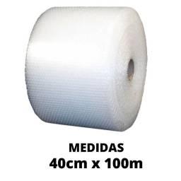 Plástico Bolha 40x100 Embalagens Ecommerce Pronta Entrega 25 Micras