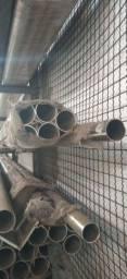 Tubos redondo em alumínio natural