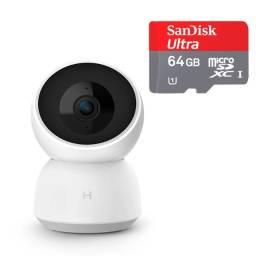 Câmera Xiaomi De Segurança / Vigilância 1296p 2k + Micro Sd Ultra de 64Gb
