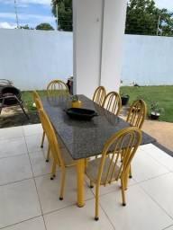 Mesa mármore 8 cadeiras