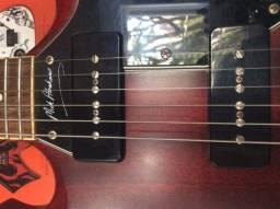 Guitarra Vintage Sg Vs6mrma Series Mick Abrahams Signature P90`s - Troco Pedal (is) !!!