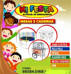 Aluguel brinquedos e mesas= watsap *