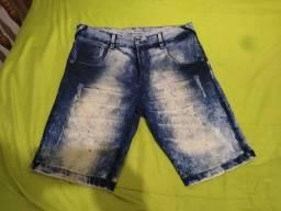 Bermuda jeans azul (40)