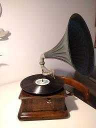 Gramofone Alemão Parlophon de 1915 Original
