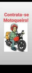 Contrato motoqueiro com moto q conheça Goiânia e Aparecida