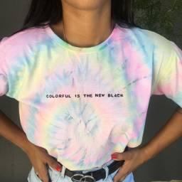 Camiseta Tiedye com frase