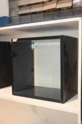 Título do anúncio: Nicho de Parede / Suspenso em MDF Preto 31 cm x 31 cm x 20 cm