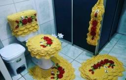 Jogo para Banheiro em croche 5 peça