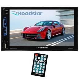 Central Multimídia - Modelo Universal -Mp5 Touch Screen Roadstar - 2Din