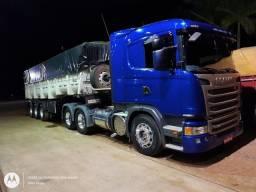 VENDO CONJUNTO SCANIA G-360 ano 2015 e carreta CAÇAMBA RANDON ano 2016