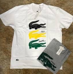 Kit 4 camisas Malha slim multi marcas