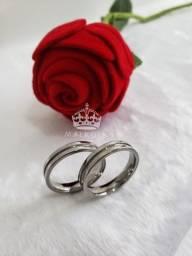 Alianças de Aço Cirúrgico Para Namoro e Compromisso
