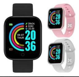 Smartwatch Y68 Tela infinita