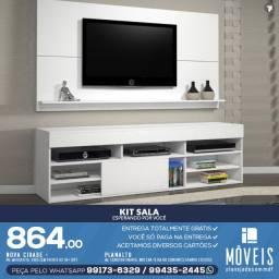 Kit sala completo (rack + painel de tv ) 100% MDF c/ preços a partir de R$ 584,00
