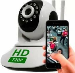 Combo 2 Cameras Ip Sem Fio Hd 720p 1.3 Mp Wi-fi Noturna Gira 360 Graus - Frete Grátis