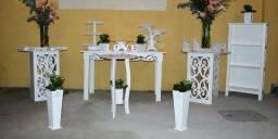 Conjunto de móveis provençais branco