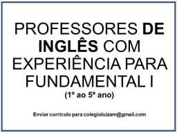Seleção de Professores para Inglês Fundamental I