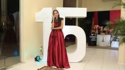 ALUGUEL* DE Vestido Vinho para festa de 15 anos