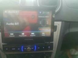 Dvd retrátil novo na caixa com Bluetooth e TV digital