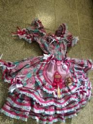Vestido infantil São João